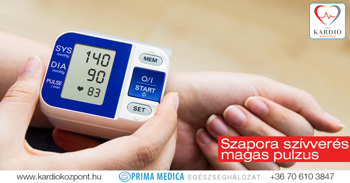 gyors szívverés és magas vérnyomás