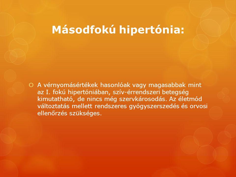 másodfokú hipertónia kockázata mit ehet magas vérnyomás és veseelégtelenség esetén
